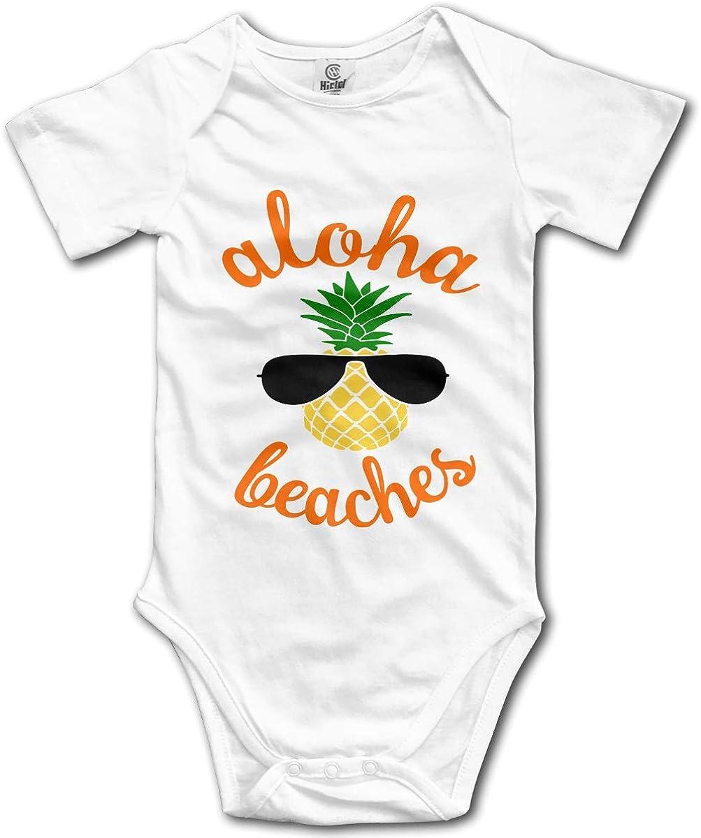 Suit 6-24 Months SDHEIJKY Newborn Aloha Beaches Short Sleeve Climbing Clothes Bodysuits Onesies 100/% Cotton