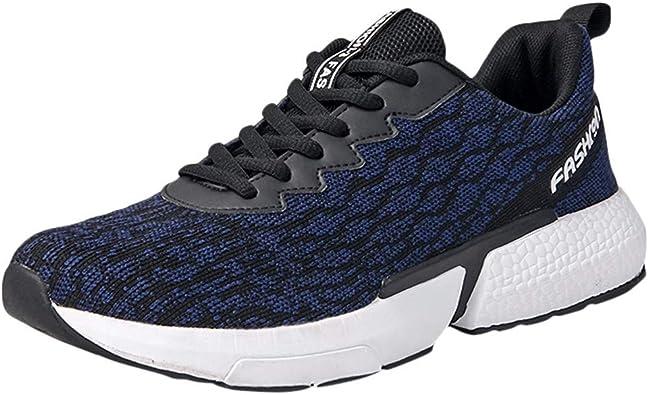 LANSKIRT Zapatillas de Running para Hombre Transpirable Ponible Calzado Deportivo Al Aire Libre Ligero Zapatos Deportivas,39-46: Amazon.es: Zapatos y complementos