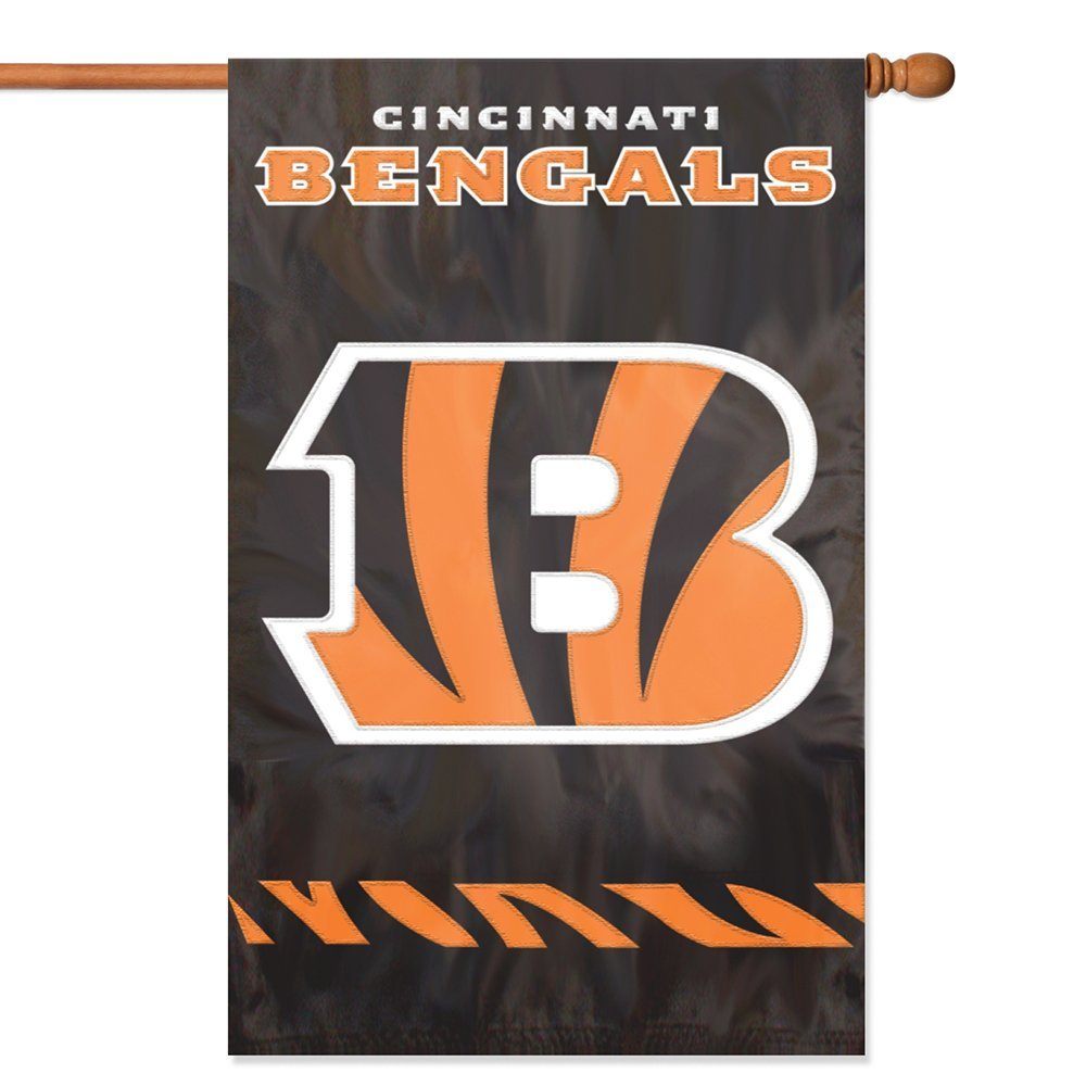 """Party Animal NFL Applique House Banner Flag, 44"""" x 28"""""""