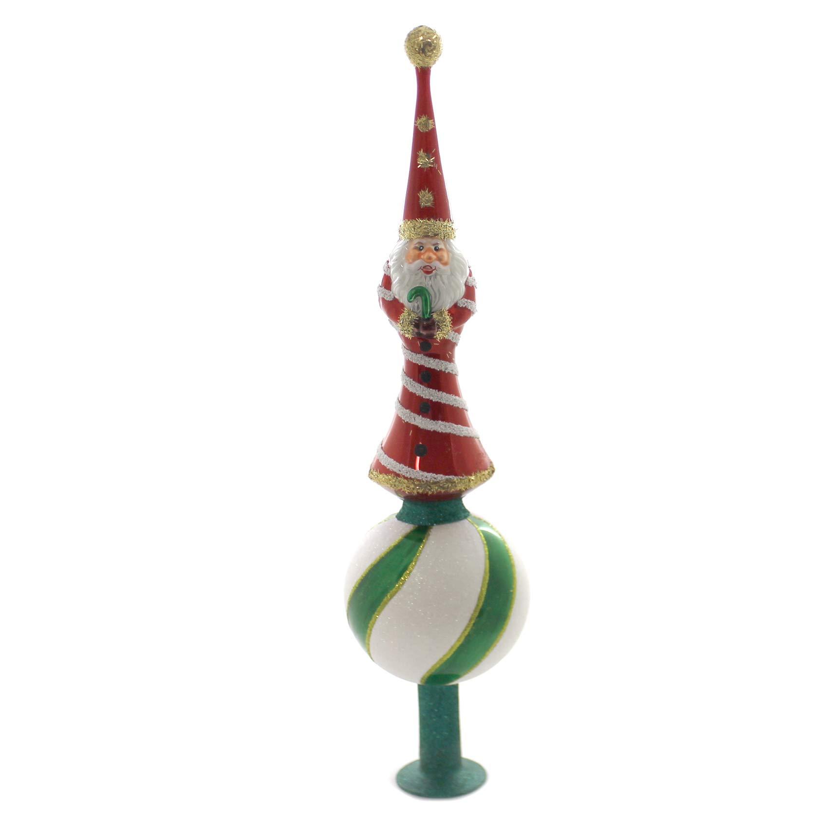 Morawski Thin Santa TREETOPPER Glass Finial Poland 10031