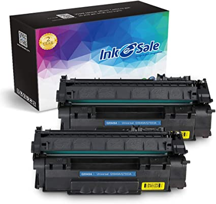 2pk 53x Black High Yield Toner Cartridge for HP Q7553X M2727 P2015 2014 FREEship