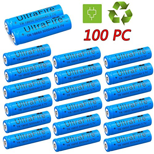 18650 3.7V 3000mAh Li-ion BRC Rechargeable Battery by Generic