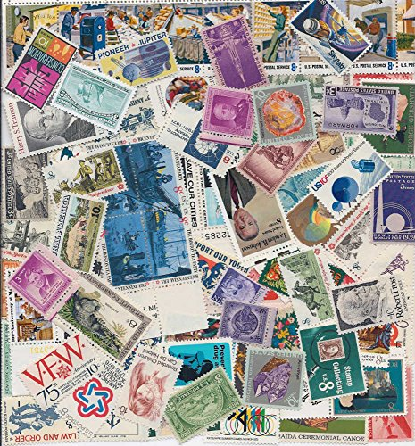 STAMP COLLECTORS! Nice Large Lot of 100 Vintage Mint US Postage Stamps - All Stamps are New, Mint Condition ~ Each Packet is different! (Reference Picture only) by USPS