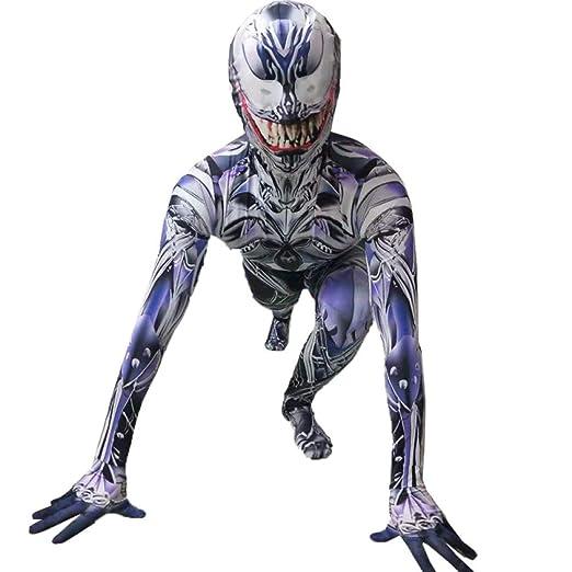 ZHANGQI Halloween Cosplay Traje De Spiderman Medias De ...