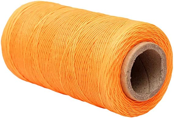 Ogquaton 260M 150D 1MM Cuero duradero Costura encerado Hilo de cera Cordón de costura a mano Craft DIY Herramientas de costura Naranja: Amazon.es: Amazon.es