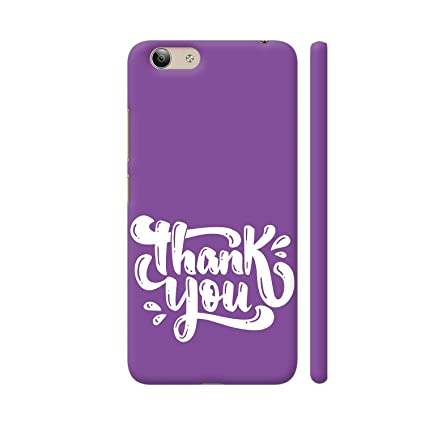 Colorpur Thank You Greeting In Purple Printed Back Case Amazon In