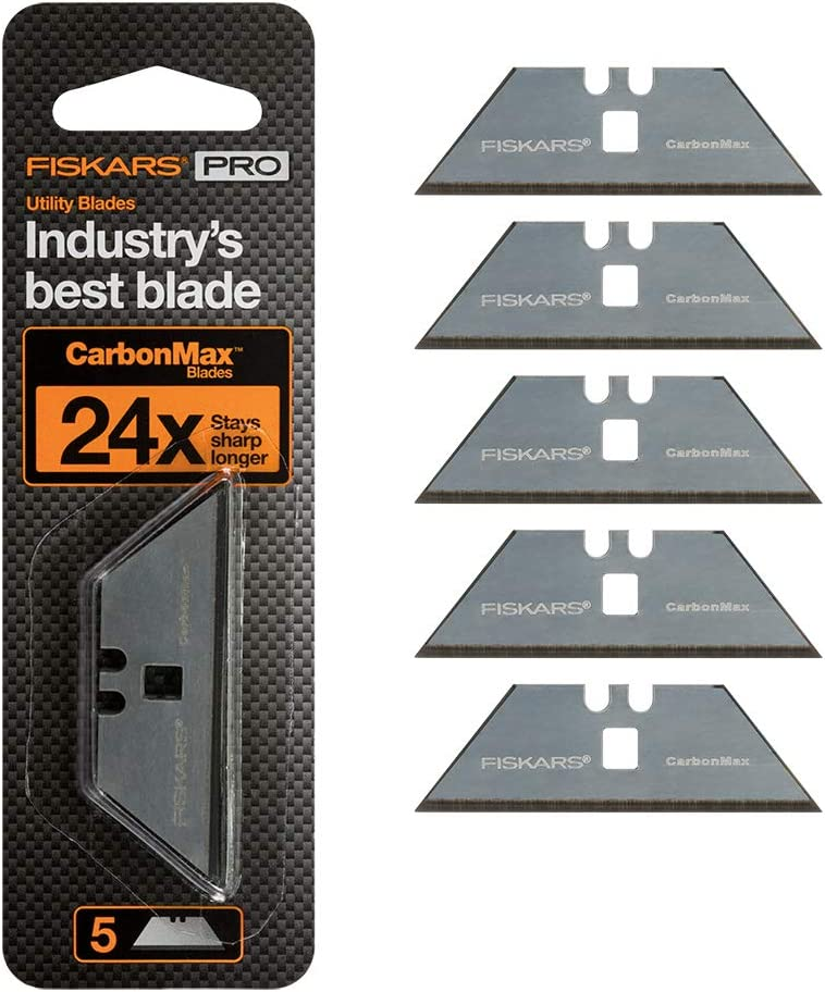 Fiskars 771010-1001 Pro Replacement Blades, 5 Pack
