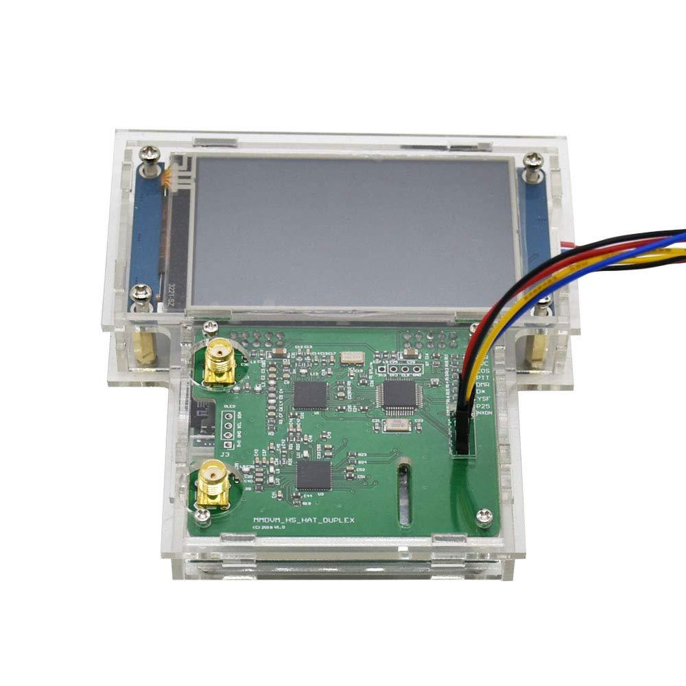 SODIAL Duplex Mmdvm Hotspot Support P25 Dmr Ysf Raspberry Pi Cero 2Pcs Antena 3.2 LCD Exclusa Caso Transparente