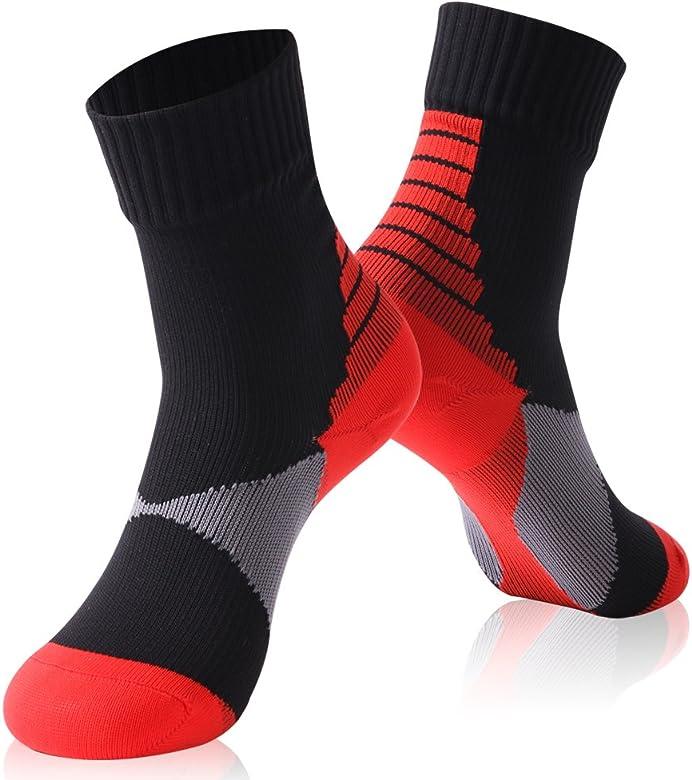 RANDY SUN Waterproof Hiking Socks Unisex Crew Windproof Breathable Outdoor Sports Socks