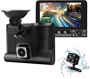 Dash Cam, Backup Camera 1080P FHD Car Camera,Dash Cam Front and Rear170° &120° Wide Angle Lens,Waterproof Backup Camera,G-Sensor, Loop Recording, Motion Detection,WDR,Parking Monitor