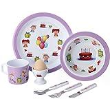 Yinshine Melamine 7 PCS Toddler Feeding Set   Children Matching Dinnerware Set   Birthday Gift for Kids