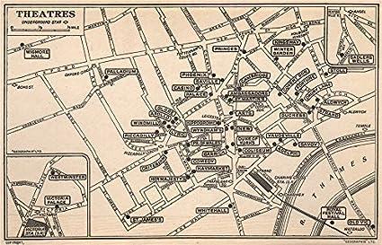 West End Theatres London Map.Amazon Com London West End Theatres Covent Garden St James S