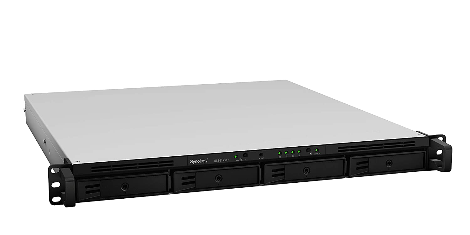 Synology NAS Rackstation (Diskless) (RS1619xs+), 4-Bay; 8GB DDR4