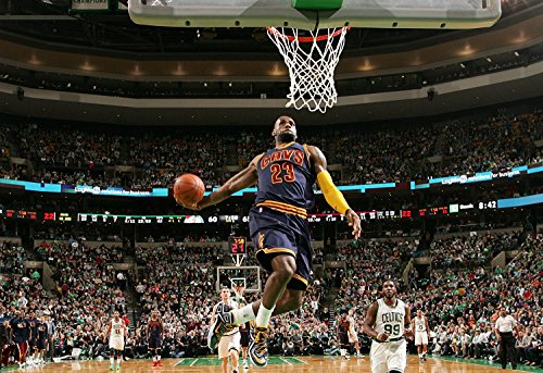 Lebron James Fabric (Lebron James Cleveland Cavaliers Basketball Limited Print Photo Poster 36x32 #2)