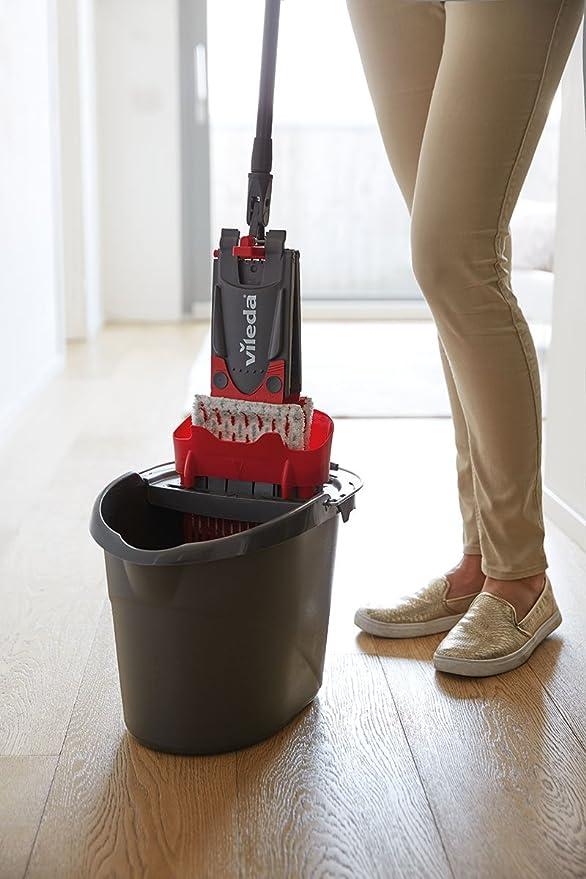 Amazon.com: Vileda Ultramat Complete Set + 2in1 Replacement Floor Mop, Metal Cover, 44,9 x 28.9 cm red/Grey: Kitchen & Dining