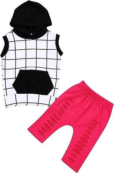 Camisa sin mangas con capucha para niños de 1 a 6 años + ...