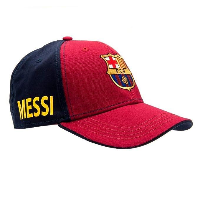 FCB FC Barcelona - Gorra Modelo Messi (Talla Única/Rojo/Azul): Amazon.es: Ropa y accesorios
