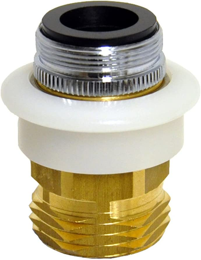 DANCO Dishwasher Snap Coupling Adapter, 15/16 in.-27M or 55/64 in.-27F x 3/4 in. GHTM, Brass (10521), Brass/Antique Brass: Home Improvement