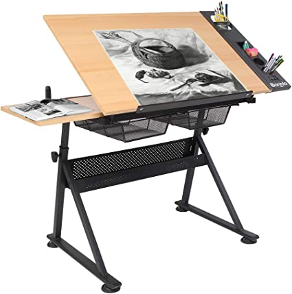 Amazon Com Bonnlo Professional Drafting Desk Wooden Drawing