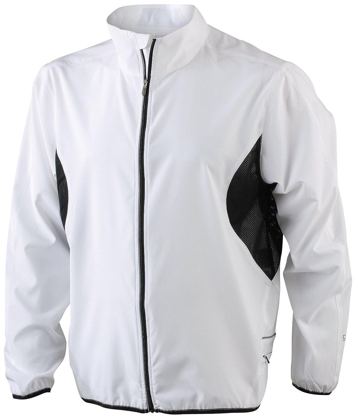James & Nicholson - Chaqueta de running para hombre, color blanco, talla M JN444