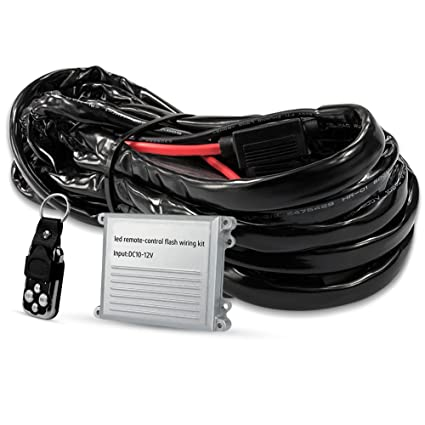 led light bar wiring harness wireless strobe wiring kit on-off-strobe  remote control