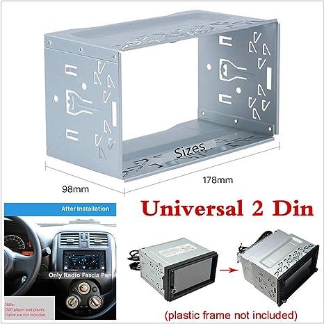 Radioblende Montagekäfig Universal Metall Doppel 2 Din Elektronik