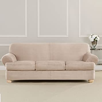 Amazon Com Sure Fit Ultimate Heavyweight Stretch Suede Slipcover