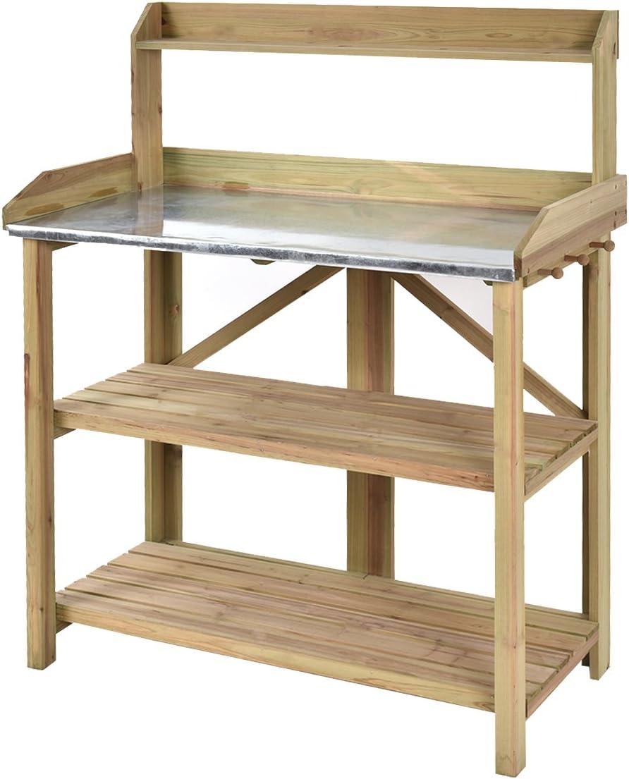 amazon com potting benches tables patio lawn garden rh amazon com