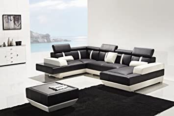 Amazon.com: VIG Furniture Divani Casa T286 - Modern Leather ...
