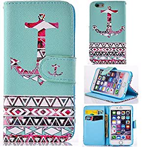 6 Plus case,iphone 6 Plus leather wallet,Kaseberry Fashion Colorful Style Wallet Credit Card Holder Case Magnetic Design Flap Folio PU leather Cover Case for iPhone 6 Plus