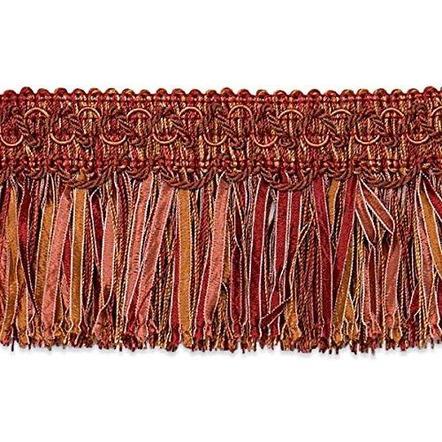 Expo International Cut Ribbon Fringe Trim, 10 yd, Cinnamon/Multicolor ()