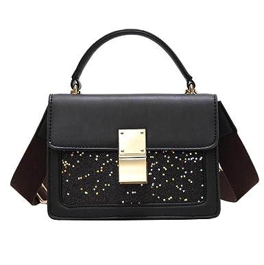 Frauen Handtaschen Mode Eimer Taschen Kontrasttaschen Diagonal Taschen Große Kapazität Europäischen Und Amerikanischen Mode,Black-OneSize GKKXUE