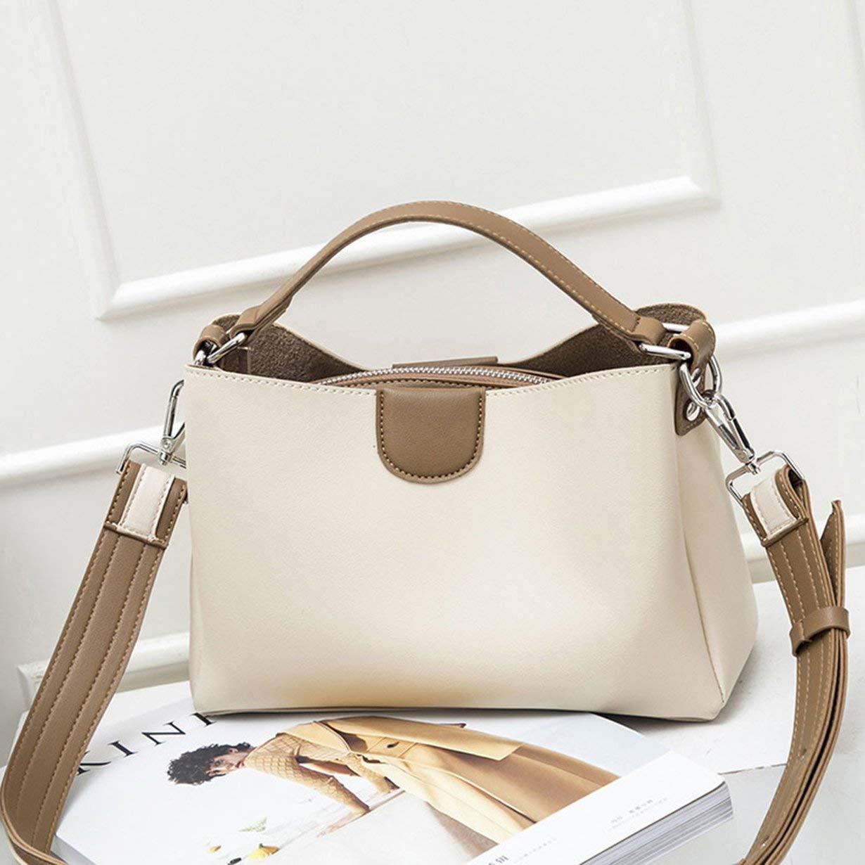 FEKETEUKI Pu Leather Bag Single Shoulder Bag Lady Bag Simple Fashion Multifunctional Handbag Inclined Shoulder Bag 1