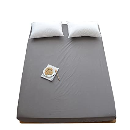 ORoa 100% Cotton Solid Children Fitted Sheets Soft Single Deep Fitted Bed  Sheet Twin Full