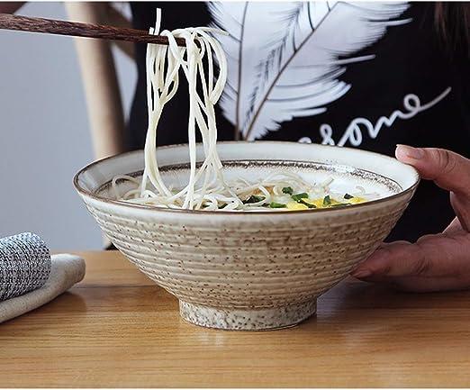 Juego de cuencos de cerámica japonesa Ramen – Cuenco de cerámica para cereales de desayuno, sopa, fideos, arroz o helado: Amazon.es: Hogar