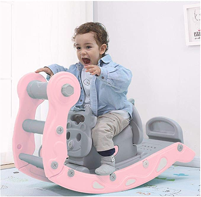 4-in-1 Child Climbing And Rocking Hors Suit For Indoor And Backyard Baskets US