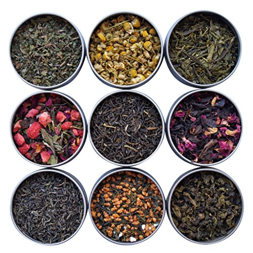 Heavenly Tea Leaves Tea Sampler, 9 Flavor Variety