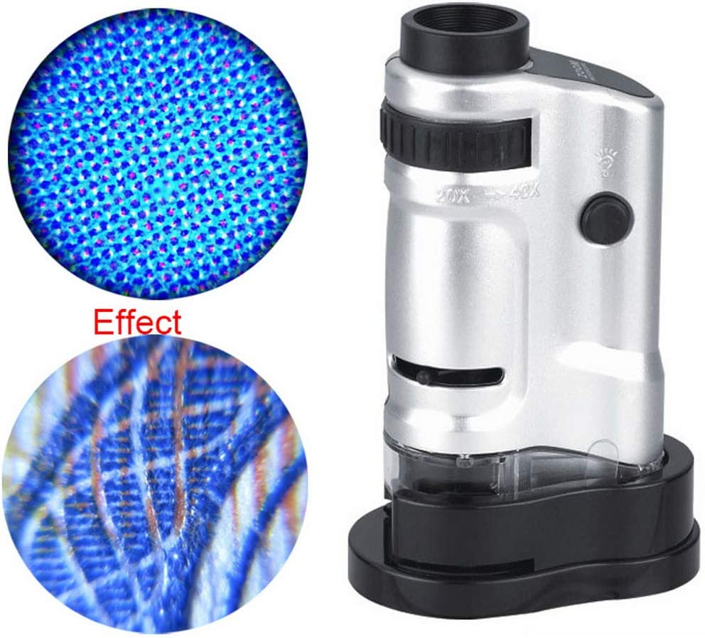 Robluee Microscopio Lupa con Fuente de luz, Herramienta educativa ...