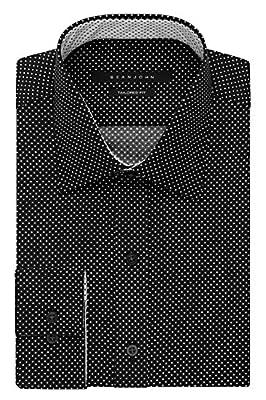 Sean John Men's Regular Fit Print Spread Collar Dress Shirt