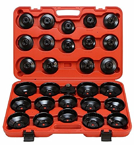 NEW 30pcs Oil Filter Cap Wrench Cup Socket Tool Set Mercedes BMW VW Audi Volvo Ford