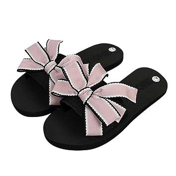 6cc35b215b241f Gotd Women Sandals Big Bowknot Flip Flop Waterproof Platform Wedge Heels  Anti-Slip Slide Platform