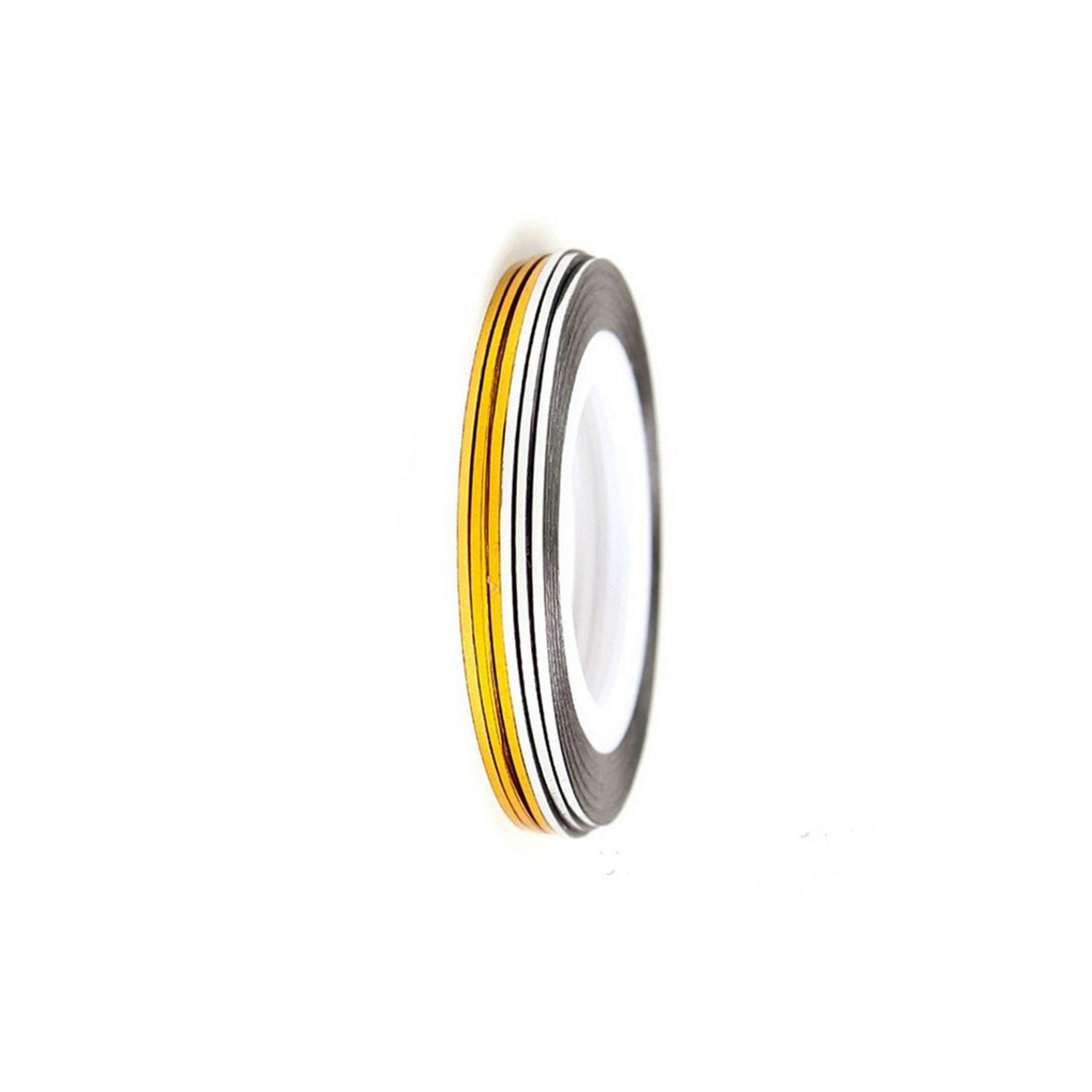 1 Rolls Nail Art Gold Silver Stripping Tape Line Strips Decorate Tools Nail Sticker Diy Beauty Accessories,1Pcs Silver Line by Mango-ice