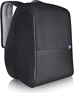 """Laptop Backpack Anti-theft Commuter Backpack for 15.6"""" Laptop with USB Charging Port, RFID Protection Pocket and Raincover for Men Women, Black"""