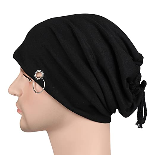 Men Lacing Beanie Bonnet Skull Cap Skullies Hat with Ring Hip Hop Hat  Beanies at Amazon Men s Clothing store  20b8903265e