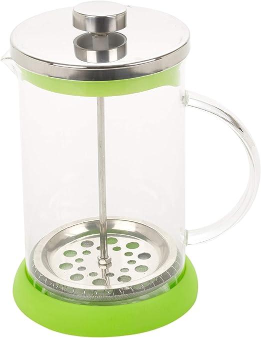 Cafetera y tetera de 800 ml – Cafetera de prensa francesa – Disponible en varios colores verde: Amazon.es: Hogar
