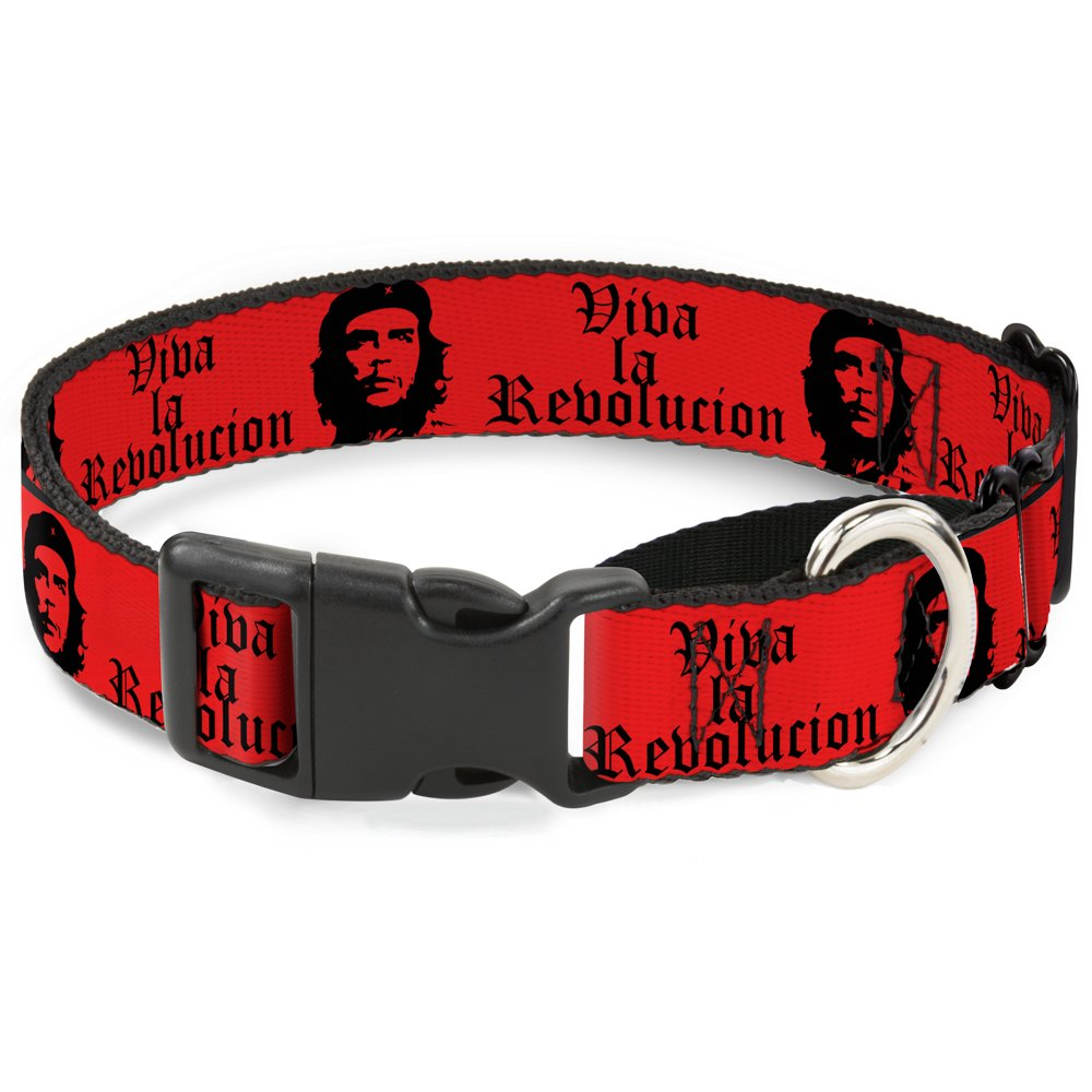 Buckle-Down Che Red Black Martingale Dog Collar, 1.5  Wide-Fits 16-23  Neck-Medium