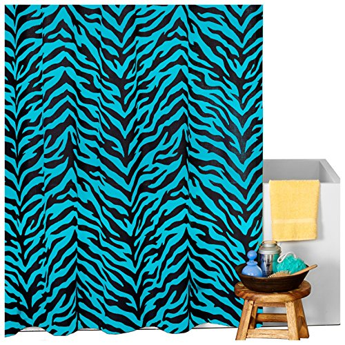 Karin Maki Zebra Shower Curtain, Blue ()