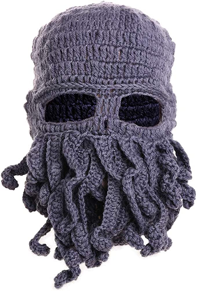 DORA BRIDAL Tentacle Octopus Cthulhu Knit Beanie Hat Fisher Cap Wind Ski Mask