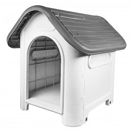 V.JUST - Caseta de plástico para Cachorro, Perro, Gato, casa Resistente