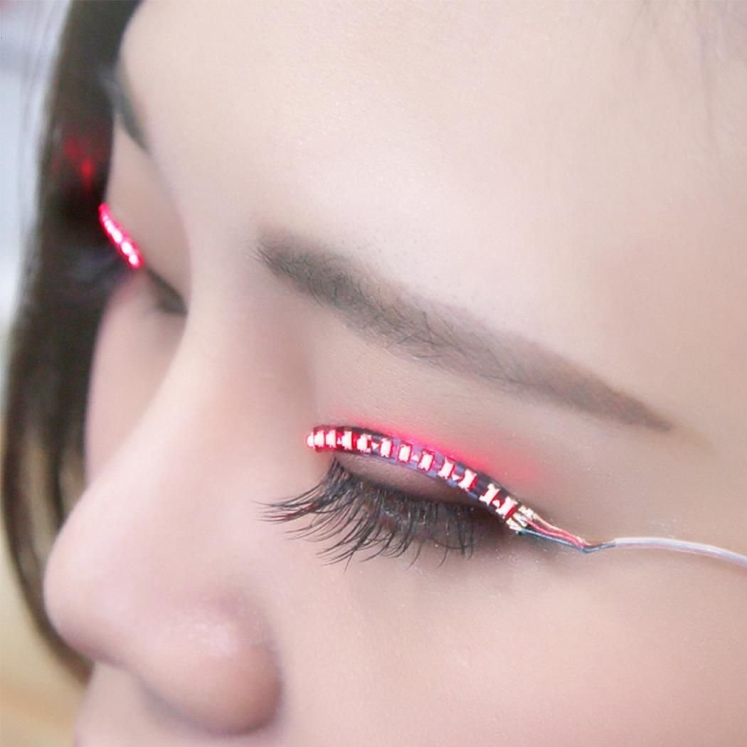 Amazon 1 Pair Luminous Flash Led Waterproof Eyelashes Lamp Eyes